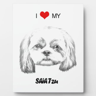 Amor personalizado de I mi bosquejo del lápiz de Placa Para Mostrar