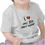 Amor personalizado de Zia Camisetas