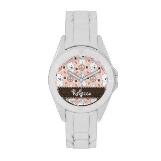 Amor personalizado Westies de la paz Reloj De Mano