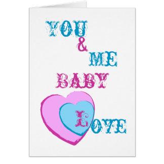Amor-Personalizar del bebé Tarjeta De Felicitación