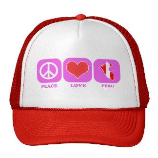 Amor Perú de la paz Gorros
