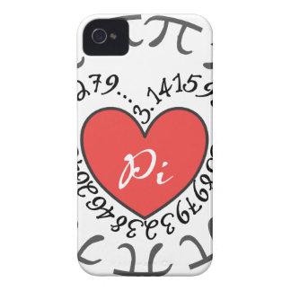Amor pi 3,14 iPhone 4 carcasas