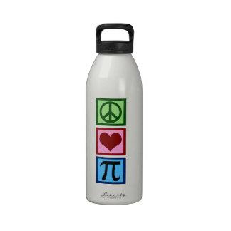 Amor pi de la paz botella de agua