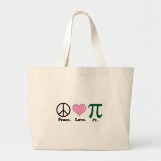 amor pi de la paz bolsa tela grande