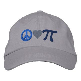 Amor pi de la paz gorras de beisbol bordadas