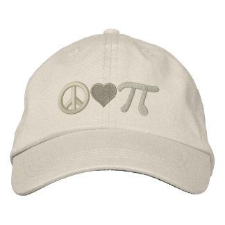 Amor pi de la paz gorras de béisbol bordadas