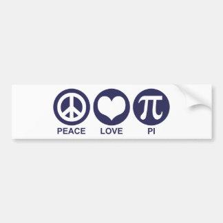 Amor pi de la paz pegatina para auto