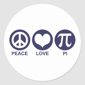 Amor pi de la paz pegatina redonda