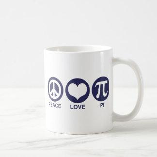 Amor pi de la paz taza de café