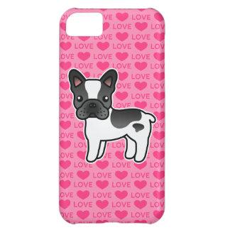 Amor picazo negro del dogo francés del dibujo funda para iPhone 5C