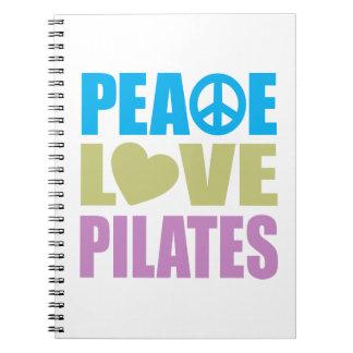 Amor Pilates de la paz Libretas