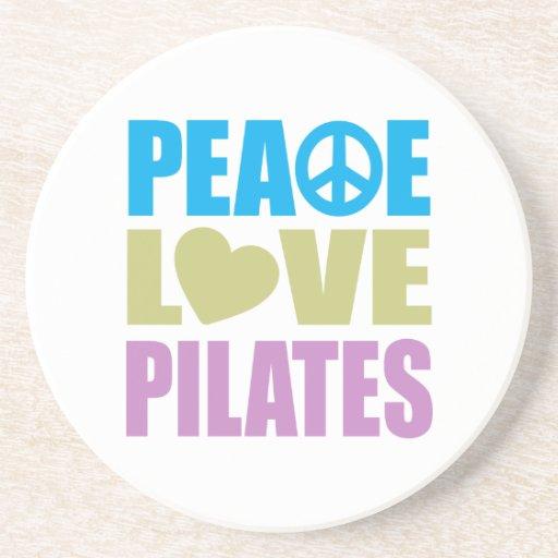 Amor Pilates de la paz Posavasos De Arenisca