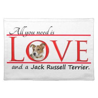 Amor Placemat de Jack Russell Terrier Manteles Individuales