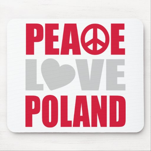 Amor Polonia de la paz Alfombrilla De Raton
