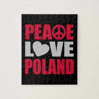 Amor Polonia de la paz Rompecabezas