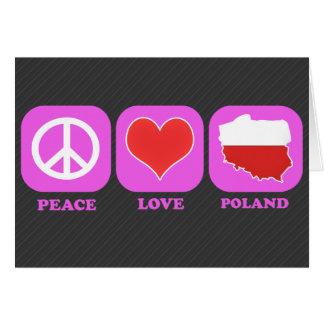 Amor Polonia de la paz Felicitación