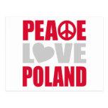 Amor Polonia de la paz Tarjetas Postales