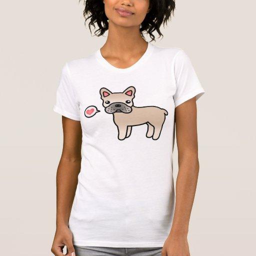 Amor poner crema del dogo francés del dibujo camisetas