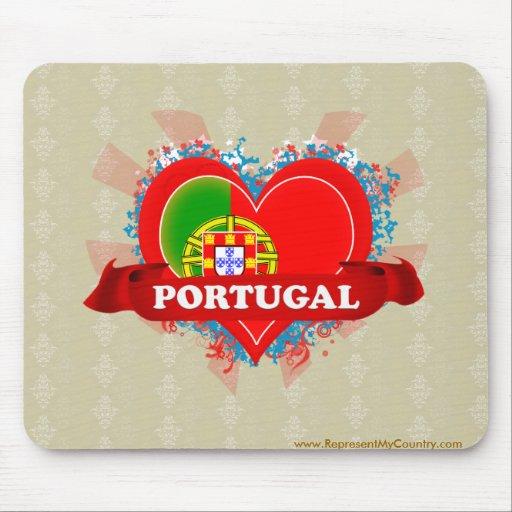 Amor Portugal del vintage I Alfombrilla De Raton