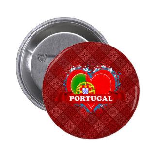 Amor Portugal del vintage I Pin Redondo De 2 Pulgadas