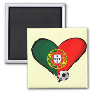 Amor, Portugal e Futebol - O que mais vôce quer ? 2 Inch Square Magnet