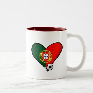 Amor, Portugal e Futebol - O que mais vôce quer ? Two-Tone Coffee Mug
