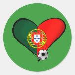 ¿Amor, Portugal e Futebol - quer del vôce de los Etiquetas Redondas