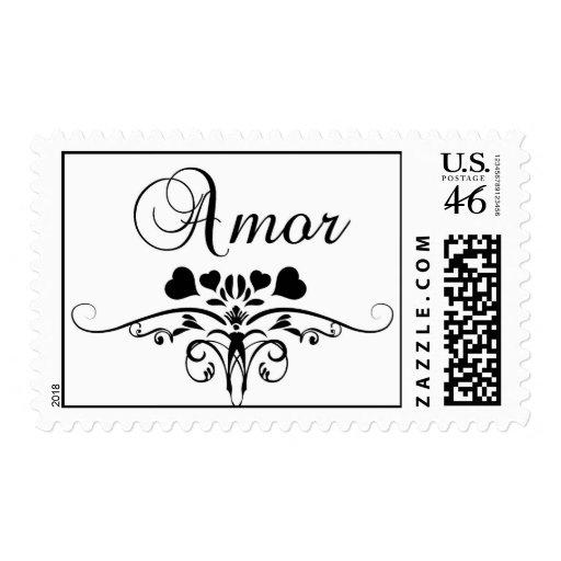 Amor Postage Stamps