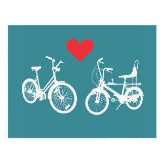 Amor precioso del hallazgo de dos bicis del tarjeta postal