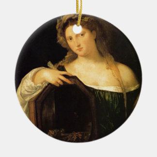 Amor profano por Titian Adorno Redondo De Cerámica