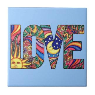 Amor psicodélico azulejo