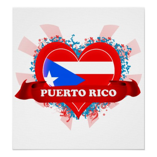 Amor Puerto Rico del vintage I Póster