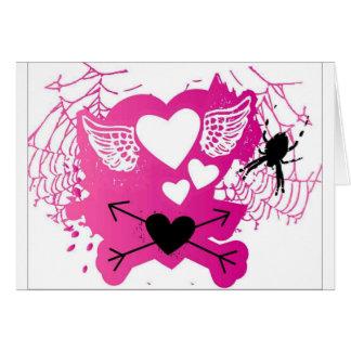Amor punky tarjeta de felicitación