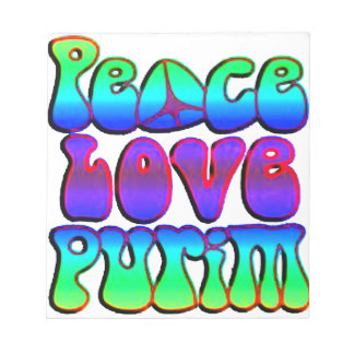 Amor Purim de la paz Libretas Para Notas