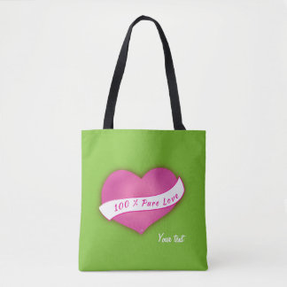 Amor puro del 100% bolsa de tela