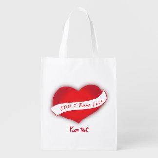 Amor puro del 100% bolsas para la compra