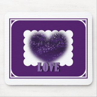 Amor Purple Heart Mousepad Alfombrillas De Ratones