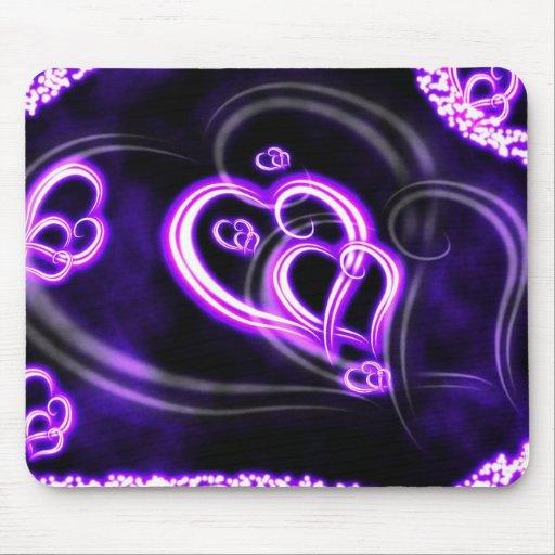 Amor púrpura alfombrilla de ratones