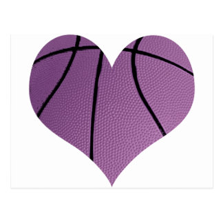 Amor púrpura del baloncesto tarjeta postal