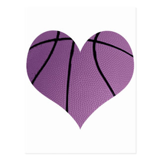 Amor púrpura del baloncesto postales