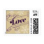 Amor - púrpura y oro timbres postales