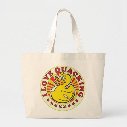 Amor Quacking R Bolsa Tela Grande