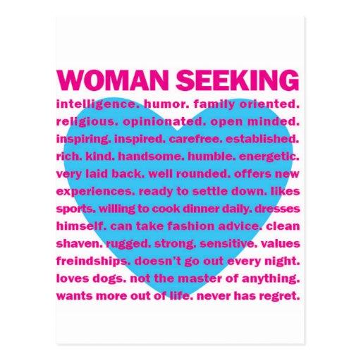 AMOR que busca de la mujer Postales