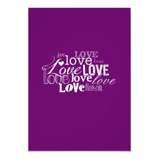 """Amor que casa Inviation Invitación 5"""" X 7"""""""