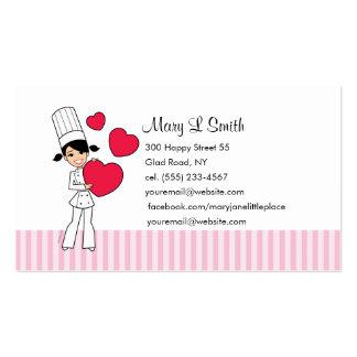 Amor que cuece la tarjeta de visita personal - mod