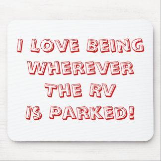 ¡Amor que es dondequiera que se parquee rv! Tapete De Ratones