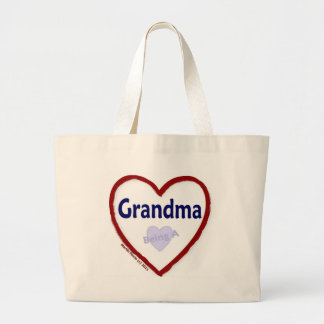 Amor que es una abuela bolsa tela grande