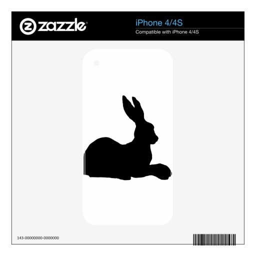 amor que espera del conejo para iPhone 4S skins