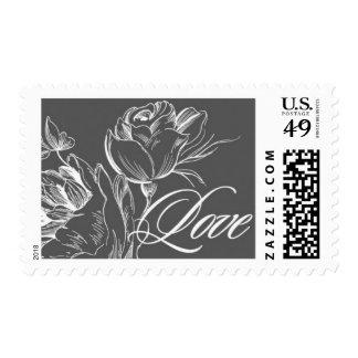 Amor que florece C de Ceci Nueva York Timbre Postal