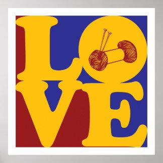Amor que hace punto póster